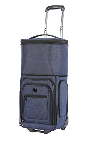 Travelers Club 17' Top Expandable Underseater W/Side USB Port Connector, Suitcase, Carry-On, Navy Blue