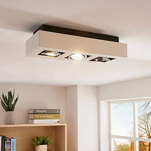 LED Lámpara de techo 'Vince' (Moderno) en Blanco hecho de Aluminio e.o....