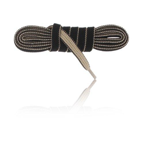 BERGAL Schnürsenkel Double Senkel zweifarbig (beige/schwarz) 120cm