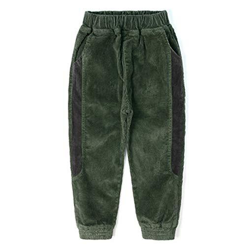 Jungen Pants Herbst und Winter Modelle Plus Samthose Kinder Dicke Cordhose Gr. 110 cm, grün