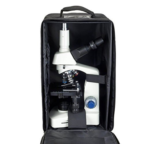 OMAX 40X-2000X Compound Siedentopf LED Trinocular Microscope with Vinyl Carrying Case