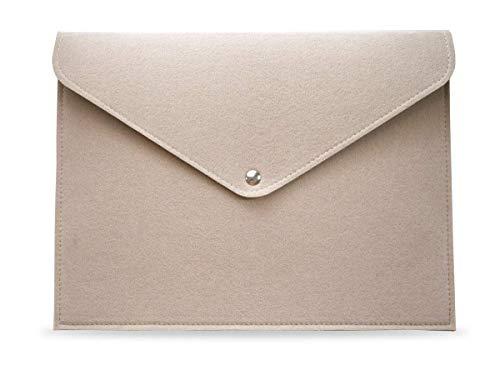 13 Zoll Sleeve Filz Laptop Tasche für 2016–2019 MacBook Pro Retina, 2017-2019 MacBook Air, Surface Pro, Dell XPS 13, Lenovo/HP/Chromebook Ultra Slim Notebook, Surface Pro, Beige für Frauen. 12.9