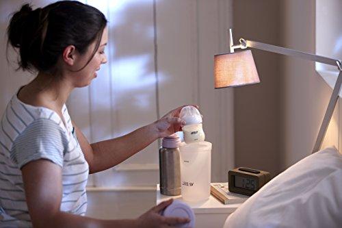Philips Avent SCF256/00 - Calientabiberones termo no eléctrico con tapa con vertido fácil, tapa protectora, color gris