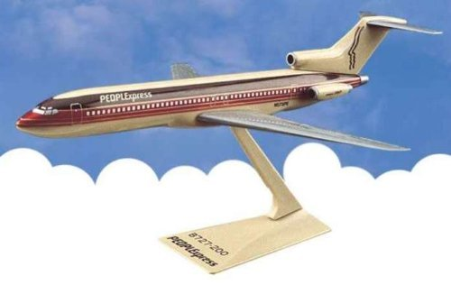 Flight Miniatures PEOPLExpress Airlines 1981-87 Livery Boeing 727-200 1:200 Scale Display Model with Stand