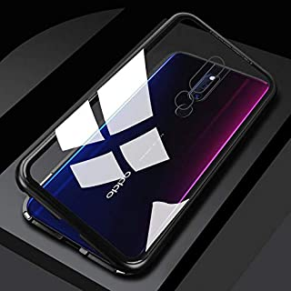 Case for Oppo F11 Pro Magnetic Case, Magnetic Adsorption Technology Metal Frame Case Aluminum 9H Tempered Glass Back Cover...