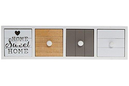elbmöbel Schmuckkommode Shabby Home Sweet Home Schubladen Mini-Kommode (40x11x11)