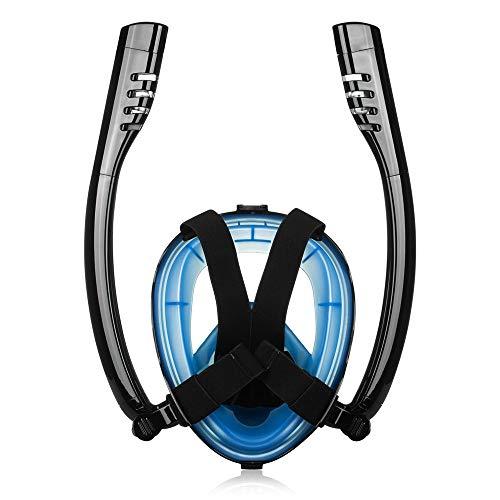 Gafas de Buceo Tubo antivaho Doble Tubo respirador del Equipo de Submarinismo máscara del Salto respiración Gafas de Montaje de cámara con para Bucear (Color : D, Size : One Size)