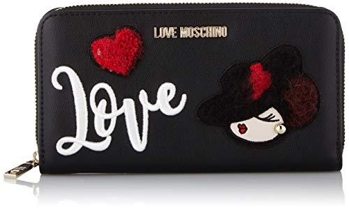 Love Moschino Unisex-Erwachsene Jc5617pp18lp0000 Geldbeutel, Schwarz (Nero), 11x2x20 Centimeters