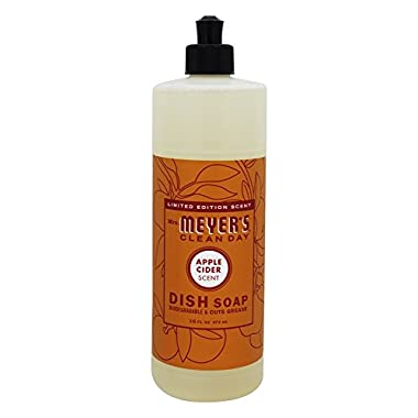 Mrs. Meyer's Clean Day Dish Soap, Apple Cider, 16 Fluid Ounce