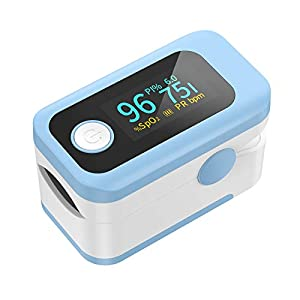 Pulsioxímetro Wawech oxímetro de dedo profesional con pantalla LED para medidor de oxigeno en sangre PI y PR lecturas instantáneas precisas y fiables