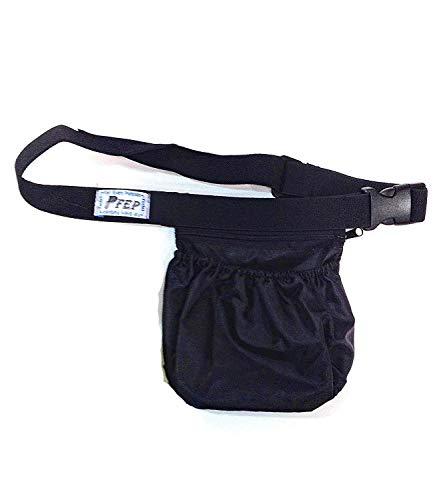 Tennis Ball Holder Bag | SPORTS & TRAVEL HIP PACK - Black | Pickleball Holder | PERFECT TRAVELING AIRPORTS (Tennis Balls, Pickle Balls, iPhone, Keys, Passport) Pocket For Every Purpose (PFEP)