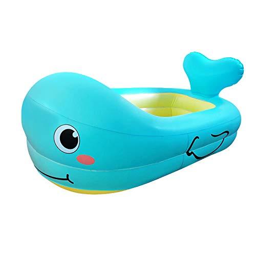 LITIAN Verdickte Environmentally Friendly Babybadewanne aufblasbares Baby aufblasbarer Pool Whale Cartoon Aufblasbare Badewanne Green