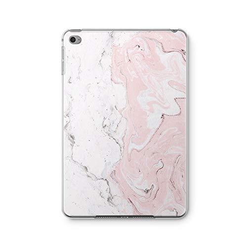 ZizzStore iPad Case Ultra Slim Plastic TPU Transparent Back Skin Cool Customized Protective Back Cover Case for (iPad Mini/Mini 2 / Mini 3, Painted Pink Marble)