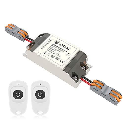 eMylo Smart Wifi RF-Schalter Drahtlose Fernbedienung Lichtschalter RF Relaismodul 1 Kanal 220V die Hausautomation 90V - 250V 433 MHz Unterstützung Echo Alexa/Google Home/IFTTT über das iPhone Android