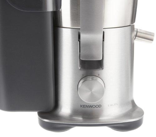 Kenwood JE850 - Licuadora, 1000 W, 3 L pulpa, 1.5 L zumo, acero inoxidable, plateado