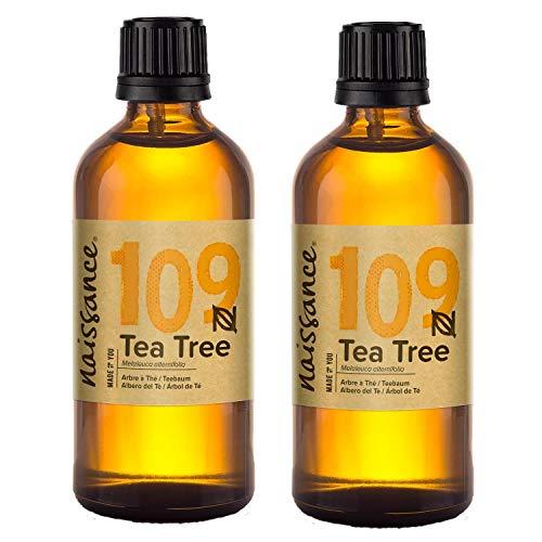 Naissance Olio di Albero del Tè - Olio Essenziale Puro al 100% - 200ml (2x100ml)