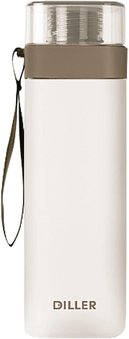 JIALI Botella de agua deportiva, taza de beber portátil, forma cuadrada, a prueba de fugas, botella de agua de oficina, para actividades al aire libre, camping