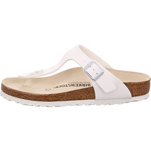 Birkenstock Schuhe Gizeh Birko-Flor Normal White (043731) 39 Weiss