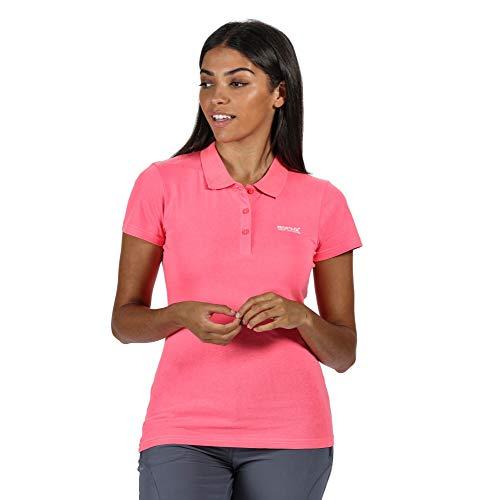 Regatta Sinton' Coolweave Damen T-Shirt/Poloshirt/Unterhemd, Baumwolle, Neonrosa, Größe 20