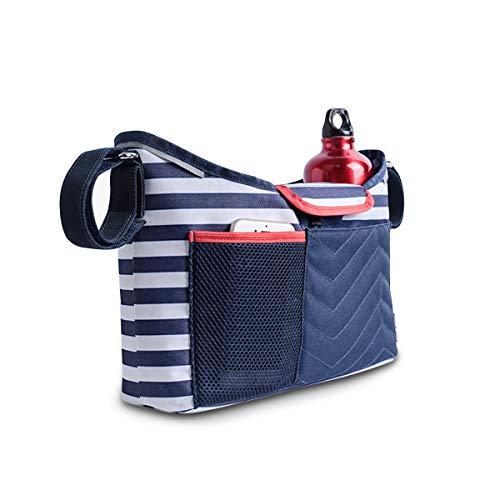 SONARIN 2 in 1 Kinderwagen Organizer Tasche Baby Wickeltasche,mit Einem Abnehmbaren Baby Windel Wickelauflage, Satchel Tasche,Große Kapazität für iPhone,Windeln,Spielzeug,Ideal Geschenk(Navy blau)