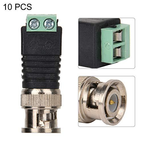 10 Unids BNC Conectores de Balun de Video Macho, Adaptador