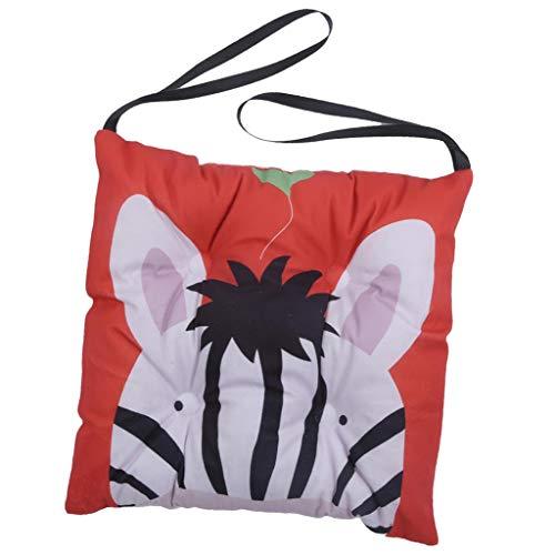 B Blesiya Quadratisches Stuhlkissen Sitzkissen Sitzpolster Stuhlauflage Boden Stuhl Auflage Kissen, Zebra Design - 30x30cm