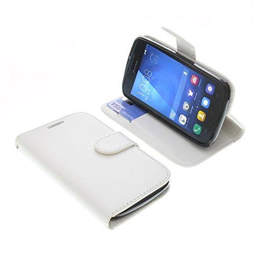 foto-kontor Tasche für Huawei Ascend Y540 Book Style Weiß Schutz Hülle Buch
