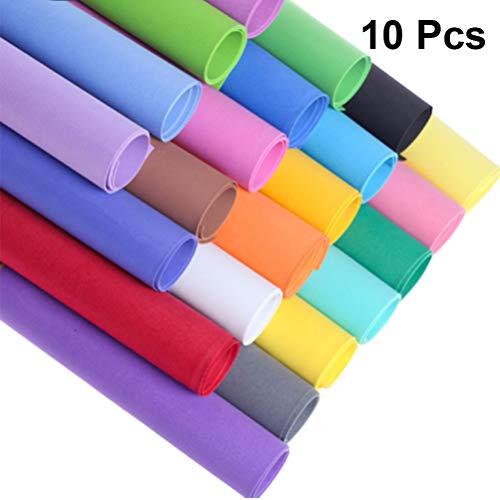 NUOBESTY Hojas de Espuma Eva Hojas de Espuma Artesanales para Actividades Artesanales de Bricolaje Traje de Cosplay - Colores Mezclados / 50X50cm 10 Piezas