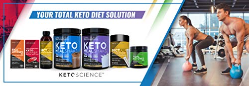 Keto Science Ketogenic Meal Shake Chocolate Dietary Supplement, Rich in MCTs and Protein, Keto and Paleo Friendly, Weight Loss, (14 servings), 20.7 oz Packaging May Vary 10