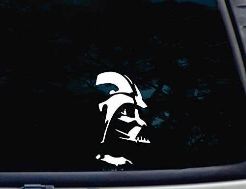 Darth Vader - 3 3/4' x 6 1/2' die Cut Vinyl Decal for Windows, Cars, Trucks, Tool Boxes, laptops, MacBook - virtually Any Hard, Smooth Surface. NOT Printed!