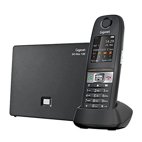 Gigaset E630A GO - Schnurloses Analog & IP-Telefon mit Anrufbeantworter - stossfest, staubresistent, wasserabweisend (IP65)- Vibrationsalarm - einfache Lautstärkeregelung, schwarz