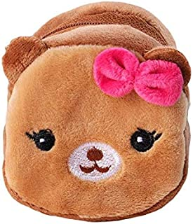 VKISI Cute Plush Toy Stuffed Small Bag Toys Dog Rabbit Bear Animal Small Coin Purse Zipper Money Wallet Kids Birthday Gift Thing You Must Have 2 Year Old Girl Gifts Girls Favourite Characters