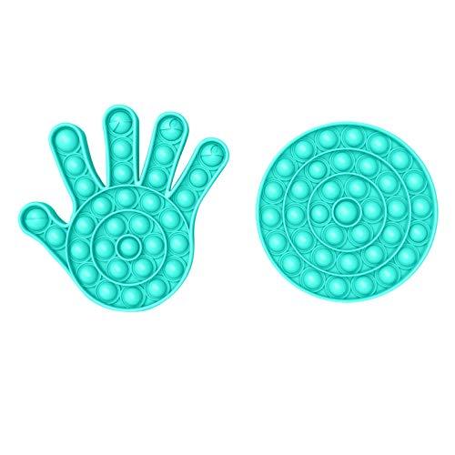 Inawayls Silikon Push Bubble Zappeln Spielzeug, Stress Sensory Squeeze Spielzeug, Pop Bubble Sensory Zappeln Spielzeug, Sensory Spielzeug für Kinder Erwachsene Stressabbau&Anti-Angst-Tools Spielzeug