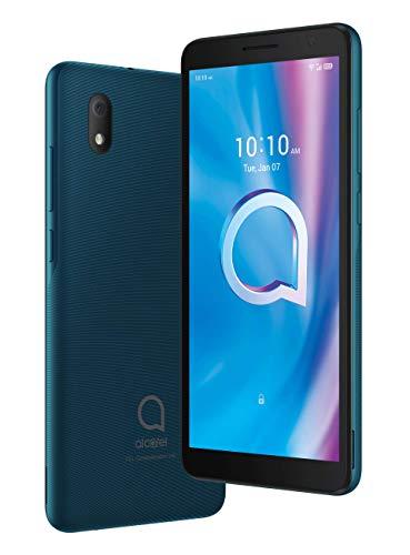 "Alcatel 1B – Smartphone de 5.5"" HD+, Pantalla 18:9, Quadcore, 2GB Ram, Memoria 32GB, Ampliable MicroSD, Cámara 8MP, Frontal 5MP, 3000 mAh de Batería, Verde [Versión ES/PT]"