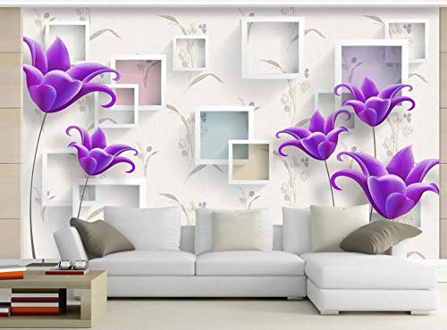 Fototapete 3D Tapete Wandbild Moderner minimalistischer eleganter Bauhinia Foto Tapete 3D Effekt Wandtapete Vliestapete Wandbilder XXL Wanddeko Tapeten
