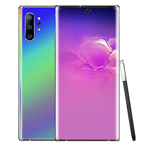 Lazmin112 Unlocked Smartphone, 2+16G 6.8 Inch HD Curved Screen Dual Cards SIM Cell Phone, Face Recognition, 4800Mah, Support 128GB Memory Card(UK PLUG)