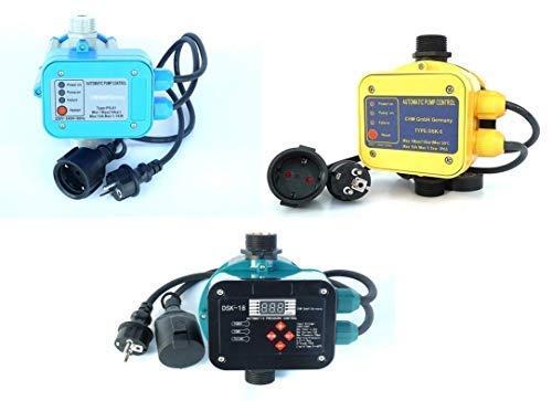 CHM Pumpensteuerungen in verschiedenen Ausführungen mit Trockenlaufschutz. Schaltleistung bis 2,2 kW. Geeignet für Gartenpumpen, Tiefbrunnenpumpen, Hauswasserwerke usw. (PS-01)