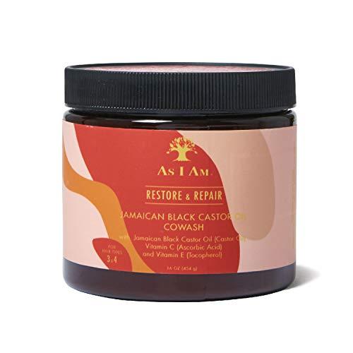 As I Am Jamaican Black Castor Oil Cowash 16 Oz - Soin lavant à l'huile de Ricin noire