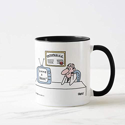 Divertida taza de café de Navidad para cirujano ortopedista con dibujos animados para cirujano ortopédico, regalo para niñas y niños