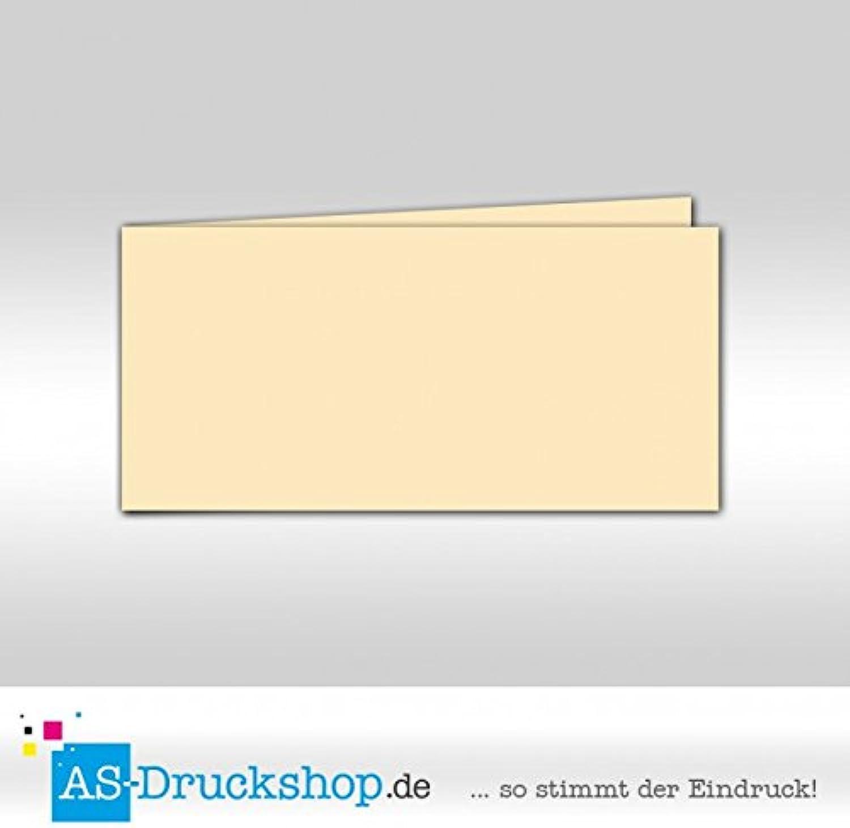 Faltkarte Faltkarte Faltkarte - Elfenbein - Samt satiniert 50 Stück DIN Lang quer B079PZHLVH | Billig ideal  f02558