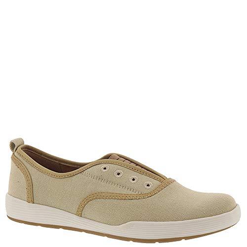 Comfortiva Womens Lithia Canvas Comfort Slip-On Sneakers Tan 9.5 Narrow (AA,N)