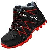 MisFox Scarpe Antinfortunistiche da Uomo, Scarpe da Lavoro con Punta in Acciaio Leggere Invernale Scarpe da Trekking Antiscivolo