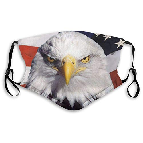 American Bald Eagle Mask Mask Balaclava Windproof Reusable Anti-Dust Mouth Face Cover