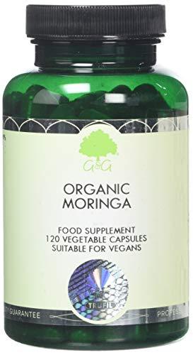 G&G Vitamins Organic Moringa - 120 Pure Moringa Oleifera Capsules - 500mg High Quality Moringa