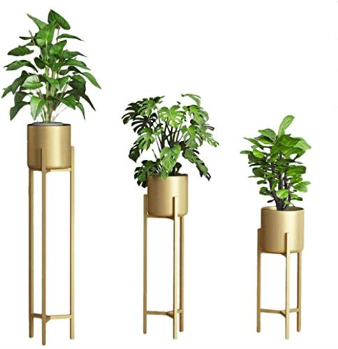 MingXinJia Flower Stand Plant Stand Set-3 Pieces of Flower Stand with High Metal Stand-Garden Display Stand for Flower Pot Stand, Garden Terrace Balcony Living Room Office Decoration