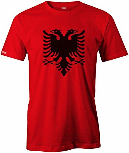 Jayess Albania Adler - Albanien - Herren T-Shirt in Rot by Gr. S