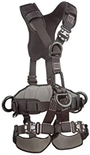 3M DBI-SALA ExoFit NEX 1113370 Full Body Black Out Rope Access/Rescue Harness, 5 AlumD-Rings, Belt w/ Pad/Side D-Rings, Locking QC Leg Straps, Small, Blue/Grey