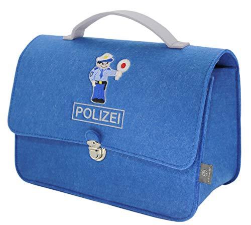 stil-macher Maletín de policía para niños de fieltro vegano | fieltro muy suave | Bolsa de policía | 23 x 32 x 15 cm (alto x ancho x profundidad)