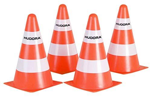 HUDORA Unisex Erwachsene 4er Set-2980110100 Pylonen, Orange, 4 St ck EU