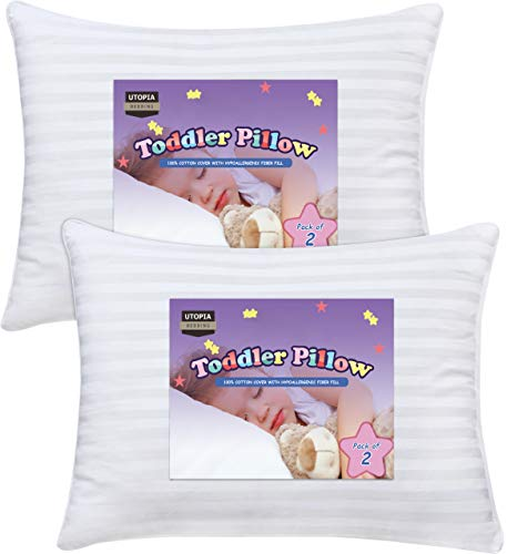Utopia Bedding 2 Pack Toddler Pillow - Baby Pillows for Sleeping...